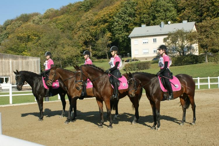 Bei dem Equiva-Schulfpferdetrophy-Finale im Oktober in Tullnerbach gingen die Starterinnen vom RV Mühlbachhof als Favoritinnen ins Rennen © Mühlbachhof-Bartmann