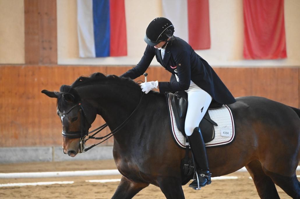 Fiona Quarda-Hainz (NÖ) und La Scolera durften sehr zufrieden sein nach ihrem Sieg in der Klasse LP. © Istvan Lehoczky