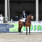 Michaela Eisner (Pegus) und Ing. Gerold Dautzenberg (Präsident des NOEPS) gratulierten dem Sieger und den Platzierten im spannenden Pegus Risikospringcup. © HORSIC.com