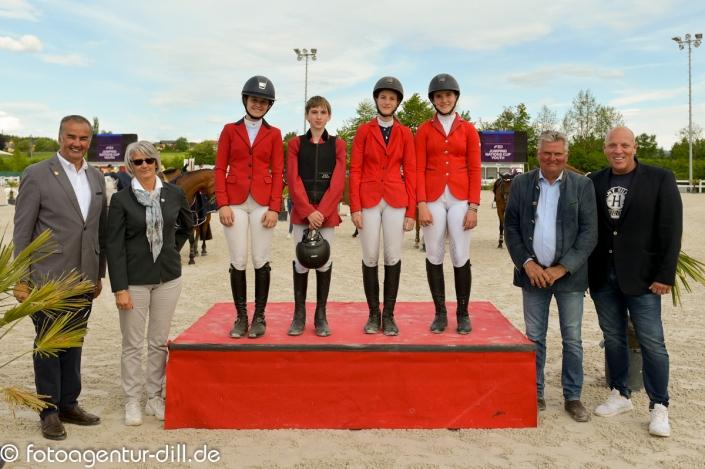 Das Ponyteam Austria hat es beim Heim CSIO in Lamprechtshausen aufs Stockerl geschafft. © Fotoagentur Dill