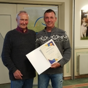 Goldenes NOEPS Ehrenzeichen für Christian Schranz (RSZ Lassee). © NOEPS