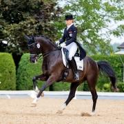 72,426 Prozent und Rang 4 für Karoline Valenta und Valenta's Diego in ihrem erst zweiten Grand Prix Special. © Michael Rzepa