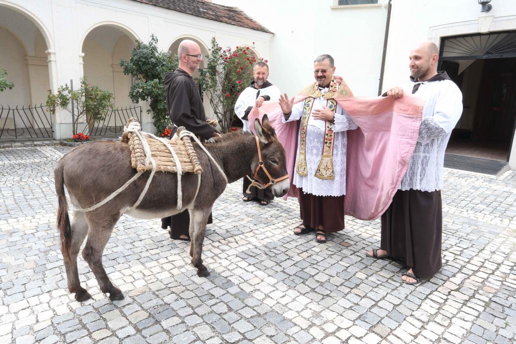 Eselsegnung Kapuzinerkloster Wiener Neustadt (Niederösterreich). © Kapuzinerprovinz Österreich-Südtirol
