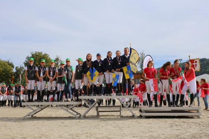 Das Pony-Springreiterteam NÖ kommt als Titelverteidiger zur Heim-BLMM in der Lake Arena. © Brunnmayr-Fotografie