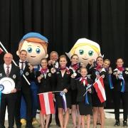 EM-Silber im Nations Cup für Team Austria bei der Europameisterschaft Voltigieren 2019 in Ermelo. © privat