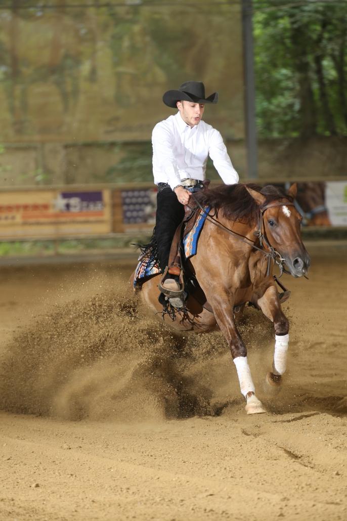 Non Pro Futurity Go round, 3-jährige Pferde: Carlo Ambrosini vorn in L4. © Christian Kellner