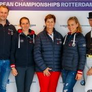 Dressur-Team Austria verpasste in Rotterdam die Olympia Qualifikation. © OEPS | Tomas Holcbecher