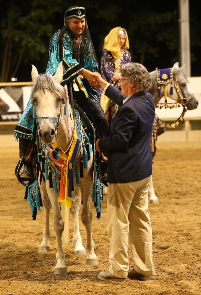 NÖ Landesmeisterschaft Traditional Arabian Riding: Chantal Wolf, Sebastian Eisler, Antje Aigner. © Christian Kellner
