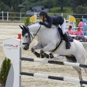 Sieger in der Landesmeisterschaft Junge Reiter: Lisa Schranz und Calvin KB. © Krisztian Buthi
