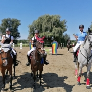 Wir gratulieren dem Sieger und den Platzierten bei der Springtour der Ländlichen Reiter am Kronberghof. © Pfoser