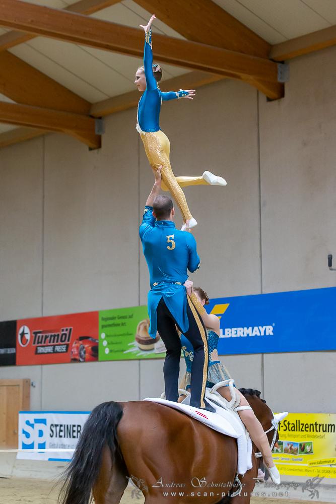 Gold bei den ÖSTM Voltigieren 2019 für die Europameister aus Wildegg. © OEPS | Andreas Schnitzlhuber www.scan-pictures.net