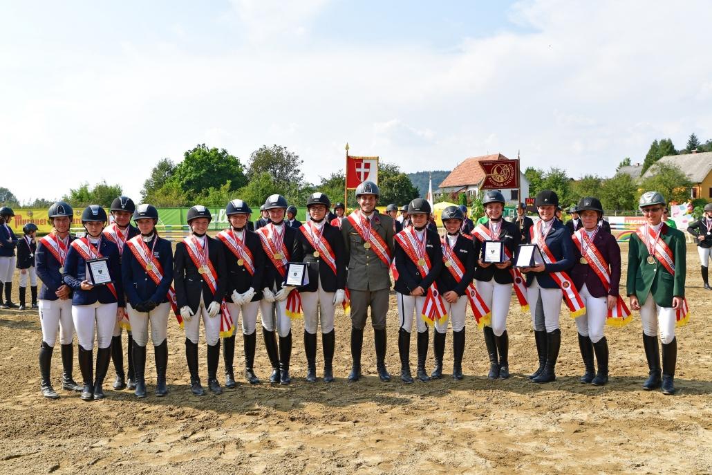Die steirischen Sportler dominierten die Österreichischen Meisterschaften und die Bundesländermannschaftsmeisterschaften Reitervierkampf in Feldbach. © HORSIC.com