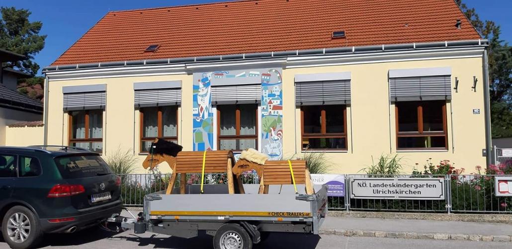 Pferde für die Kindergärten rund um das Reitgut Schloß Niederabsdorf. © Reitgut Schloß Niederabsdorf