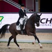 Platz 4 für Niederösterreichs Karoline Valenta und Valentas Diego im Jerich CDI4* Grand Prix bei der Amadeus Horse Indoors in Salzburg. © Michael Graf