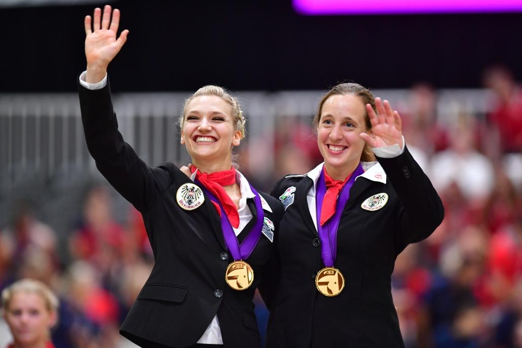 Zwei EM-Goldmedaillen (Einzel & Gruppe) gab es 2019 für Katharina Luschin in Ermelo. © im press ions – Daniel Kaiser