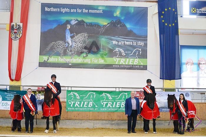 Drei der vier Hallenmeister-Titel gingen bei der Trieb Hallentrophy 2020 an niederösterreichische Islandpferdereiter. © Team Myrtill