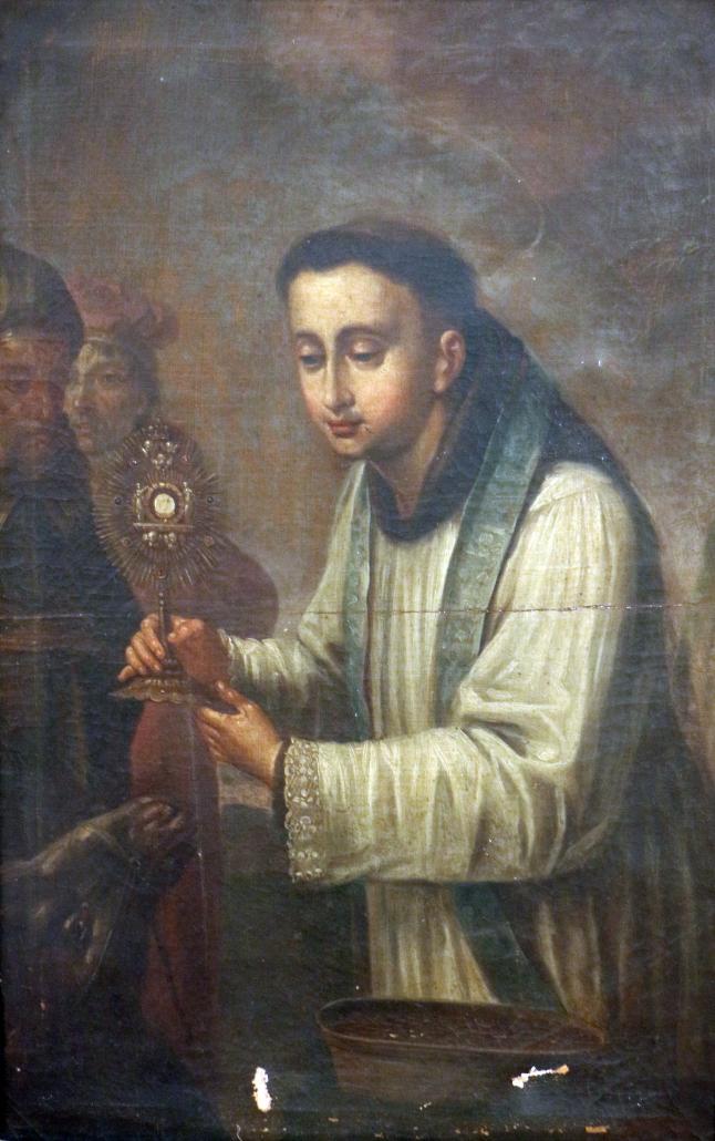 """Ein seltenes Motiv in der bildenden Kunst: Das """"Eselwunder"""" des hl. Antonius von Padua. © ZVG"""