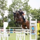 Michelle Schuster von der Ländlichen Reitergruppe Rohrendorf konnte den Erreplus Amateurspringcup im Sattel von Hollenstein gewinnen. © Eszter Nemeth