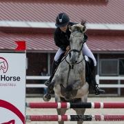 Amelie Bitzan gewinnt auf Donit den Petit Happy Horse Pony Grand Prix in Lamprechtshausen und übernimmt damit die Gesamtführung. © Andreas Schnitzlhuber | scan-pictures.net