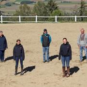 Spezial-Reining-Kurs für das OEPS Talente Team auf der Long View Ranch. © W. Michalek