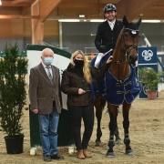 Sieger im CSI2* Grand Prix im Magna Racino: Markus Saurugg (ST) und Baloubet by Etl. © HORSIC.com