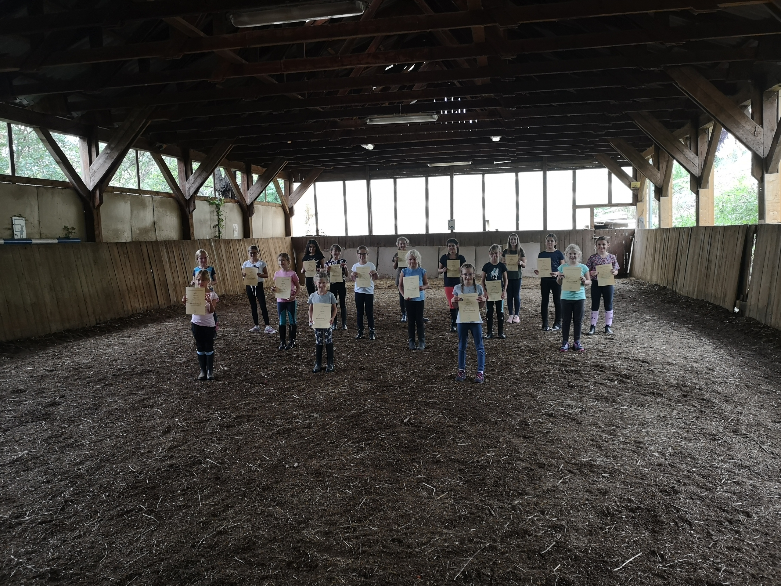 Motivationsprüfungen zum kleinen und großen Hufeisen im URV Brunner Heide. © privat