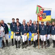 Silber für Team Niederösterreich bei der BLMM Springen 2021 in Hortischon im Pferdezentrum Wessely. © HORSIC.com