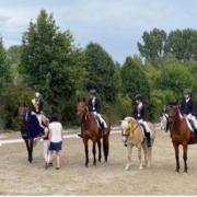 Bezirksmeisterin (Wr. Neustadt lizenzfrei) Nina Baswald und die Platzierten bei der Siegerehrung. © privat
